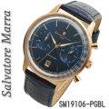 腕時計メンズ 【Salvatore Marra】サルバトーレマーラ クロノグラフ 革ベルト 5気圧防水 SM19106-PGBK画像