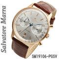 サルバトーレマーラ メンズ 腕時計 クロノグラフ 革ベルトPGSV画像