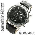 サルバトーレマーラ メンズ 腕時計 クロノグラフ 革ベルトSM19106-SSBK画像