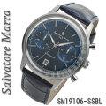 サルバトーレマーラ メンズ 腕時計 クロノグラフ 革ベルトSM19106-SSBL画像