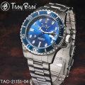 Troy Bros(トロイ ブロス) 腕時計 メンズ 三針 デイトウォッチ 10気圧防水 TAC-21151-04画像