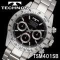 TECHNOS SWISS 腕時計 メンズ クロノグラフ 10気圧防水 テクノス TSM401SB画像