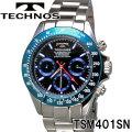 TECHNOS SWISS 腕時計 メンズ テクノス クロノグラフ10気圧防水ステンレス TSM401SN画像