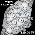 TECHNOS SWISS 腕時計 メンズ クロノグラフ 10気圧防水 テクノス TSM401SW画像