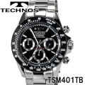 TECHNOS SWISS 腕時計 メンズ テクノス クロノグラフ10気圧防水ステンレス TSM401TB画像