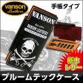 VANSON プルームテック ケース 手帳型 栃木レザー 牛革 VP-115-07 スカル柄画像