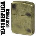 ZIPPO/1941レプリカユーズド加工ジッポーライター真鍮 1941UD-B