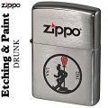 zippo(ジッポーライター)Etching&Paint エッチング&ペイントDRUNK画像