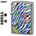 zippo(ジッポーライター)天然貝タイガー(トラ)柄ストリートクローム画像