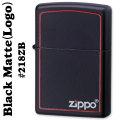 zippo(ジッポーライター)218BLACK MATTE(ブラックマット)ZIPPOロゴライン入り#218ZB画像