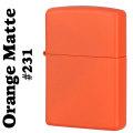 zippo(ジッポーライター)Orange Matte オレンジカラーマットジッポー #231画像