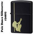 zippo(ジッポーライター)Pole Dance Silhouette(ポールダンスシルエット) #24892 Black Matt画像