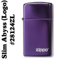 zippo(ジッポーライター)28124ABYSS SLIM(アビススリム)ZIPPOロゴ入り #28124ZL 画像