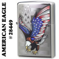 zippo(ジッポーライター)AMERICAN EAGLE high polish chrome#28449 画像