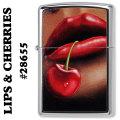 ZIPPO(ジッポーライター)RED LIPS & CHERRIES #28655画像