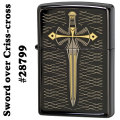 zippo(ジッポーライター) Sword over Criss-cross♯28799 Ebony画像