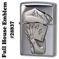 zippo(ジッポーライター) Full House Emblem(フルハウスエンブレム)High Polish Chrome #28837画像