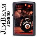 zippo(ジッポーライター)JIM BEAM (ジムビーム)ブラックマット #28840画像