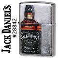 zippo(ジッポーライター)JACK DANIEL'S (ジャックダニエル)brushed chrome #28842画像