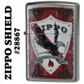 zippo(ジッポーライター)ZIPPO SHIELD(盾)Street Chrome 28867画像