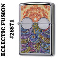 zippo(ジッポーライター)ECLECTIC FUSION high polish chrome #28871画像