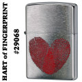 zippo(ジッポーライター)HART of FINGERPRINT #29068 Brushed Chrome画像