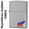 zippo(ジッポーライター)#29072 traditional Republican elephant High Polish Chrome画像