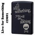 zippo(ジッポーライター) #29091 live for something Black Matte スカル ブラックマット画像