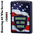 zippo(ジッポーライター)Honoring All Who Served #29092 Navy Matte画像