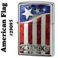zippo(ジッポーライター)American flag #29095 high polish chrome画像