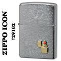 zippo(ジッポーライター)Zippo Icon Emblem #29102 Brushed Chrome画像