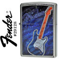 zippo(ジッポーライター)Fender design features Brushed Chrome #29128画像