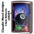 zippo Claudio Mazzi designs ビリヤード 8Ball (クラウディオ・マッツィ) ブラッシュクローム画像