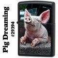 zippo(ジッポーライター)Pig Dreaming ブラックマット 29394画像