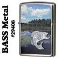 zippo(ジッポーライター)29408 Bass Metal バス メタル ブラックバス画像
