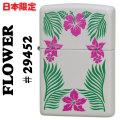 zippo(ジッポーライター)Flower フラワー ハイビスカス #29452 Cream Matte画像