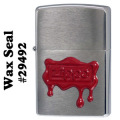 zippo RED WAX SEAL BrushedChrome (ブラッシュクローム) #29492画像