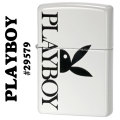 zippo(ジッポーライター)Playboy Bunny Logo プレイボーイ #29579 White Matte画像