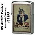 zippo(ジッポーライター)US ARMY Poster ブラッシュクロ−ム#29595画像