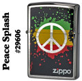 zippo (ジッポーライター) Peace Splash #29606 Brushed Chrome画像