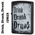 zippo (ジッポーライター)Drink, Drank, Drunk #29618 Black Matte画像