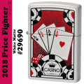 Zippo Price Fighter2018 FOUR ACES DESIGN ホワイトマット(29690)画像