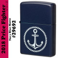 Zippo Price Fighter2018 ANCHOR DESIGN ネイビーマット(29692)画像