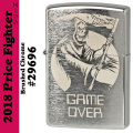 Zippo Price Fighter2018 SKULL GAME OVER DESIGN ブラッシュクローム(29696)画像