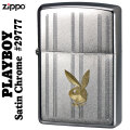 ZIPPO/プレイボーイPlayboy Bunny Head #29777クロ-ムサテン画像