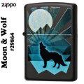 ZIPPO(ジッポーライター) Moon&Wolf(月とオオカミ) #29864 ブラックマット画像