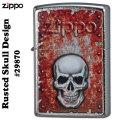 zippo(ジッポーライター) Rusted Skull Design #29870画像