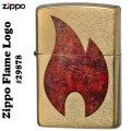 zippo(ジッポーライター) Zippo Flame Logoブラッシュブラス#29878画像