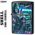 ZIPPO(ジッポー ライター )貝貼り ロゴ ブラックニッケルメッキ 2BK-ZSHELL画像