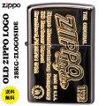 ZIPPO/アンティーク OLD ZIPPO LOGO ブラックニッケル金サシ z2BKG-ZLOGOSIDE画像